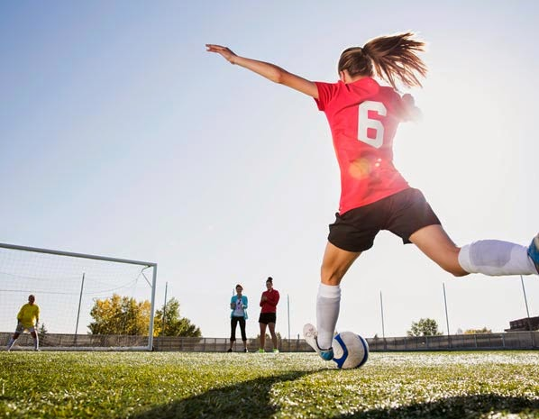 Ejercicios saludables como el fútbol