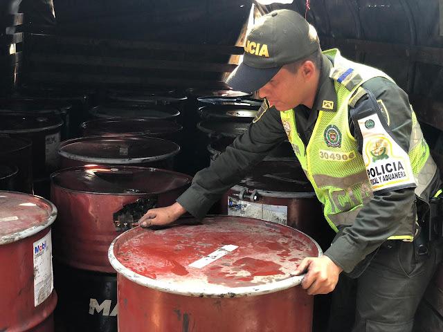 ACPM de contrabando por más de $12 millones encontró la Policía en un parqueadero