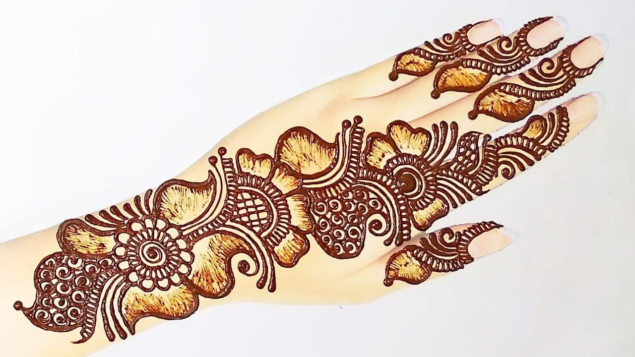 Arabic Simple Mehndi Design