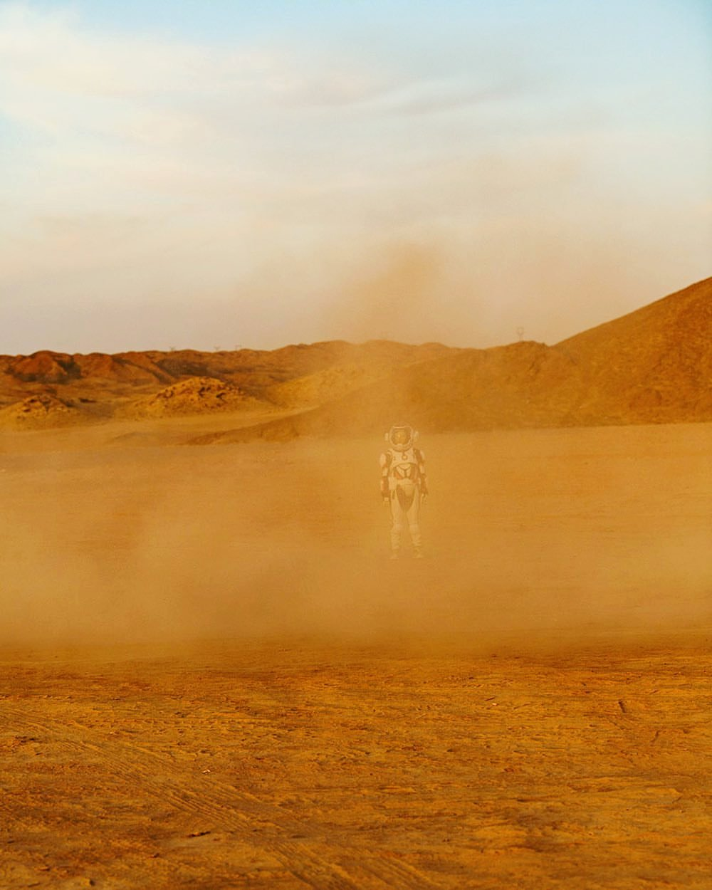Walking around China's C-Space Mars simulation base in Gobi desert - photo by Matjaž Tančič