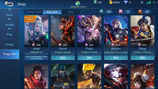 Skin ML gratis permanen - fragment shop