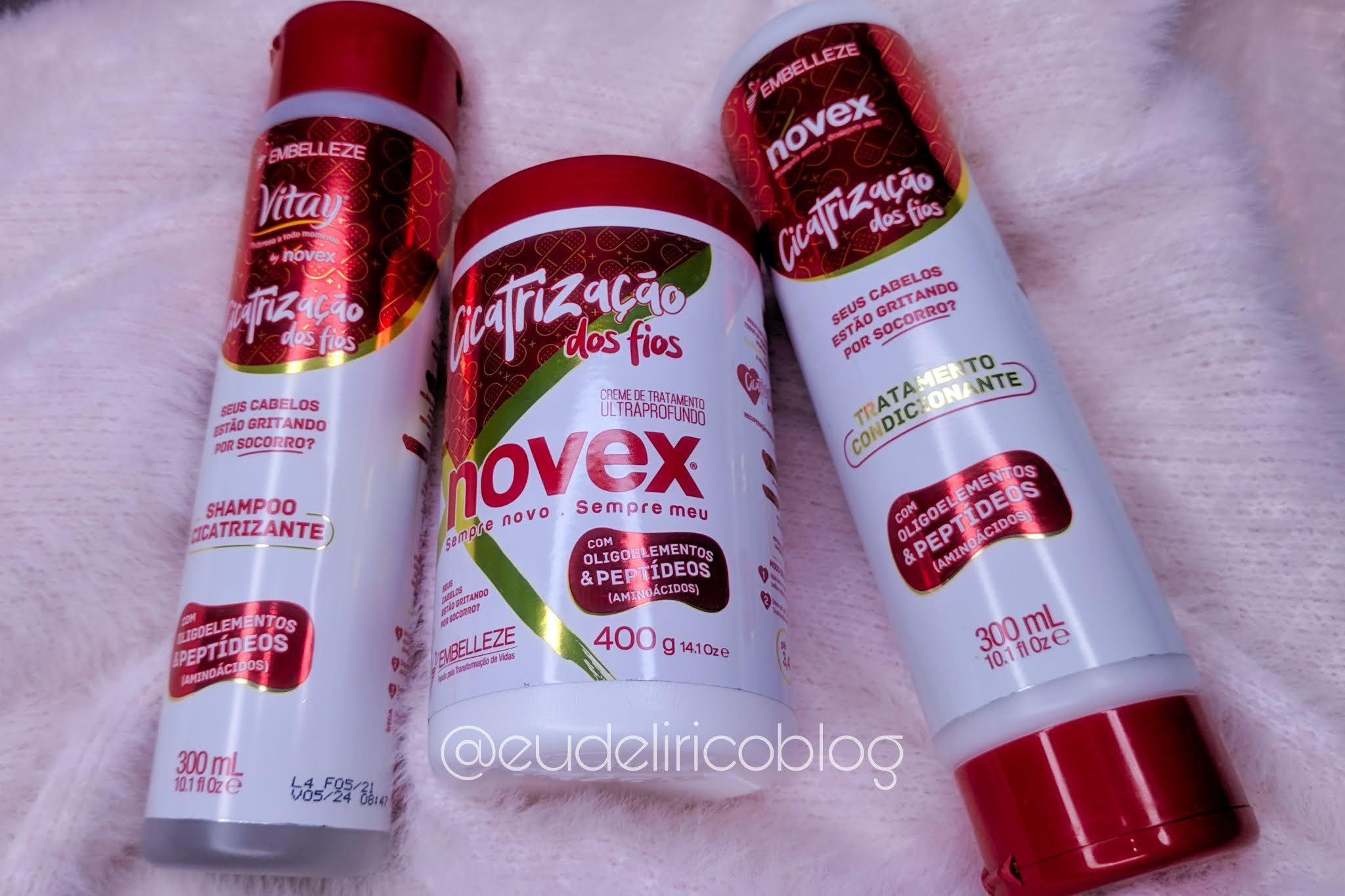 Shampoo, Creme de Tratamento e Condicionador Cicatrização dos Fios da Embelleze