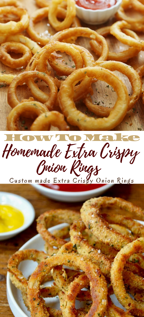 Homemade Extra Crispy Onion Rings #dinnereasy #quickandeasy #dinnerrecipe #lunch #amazingappatizer