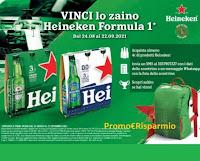 Concorso Heineken vinci 300 Zaino di Formula 1