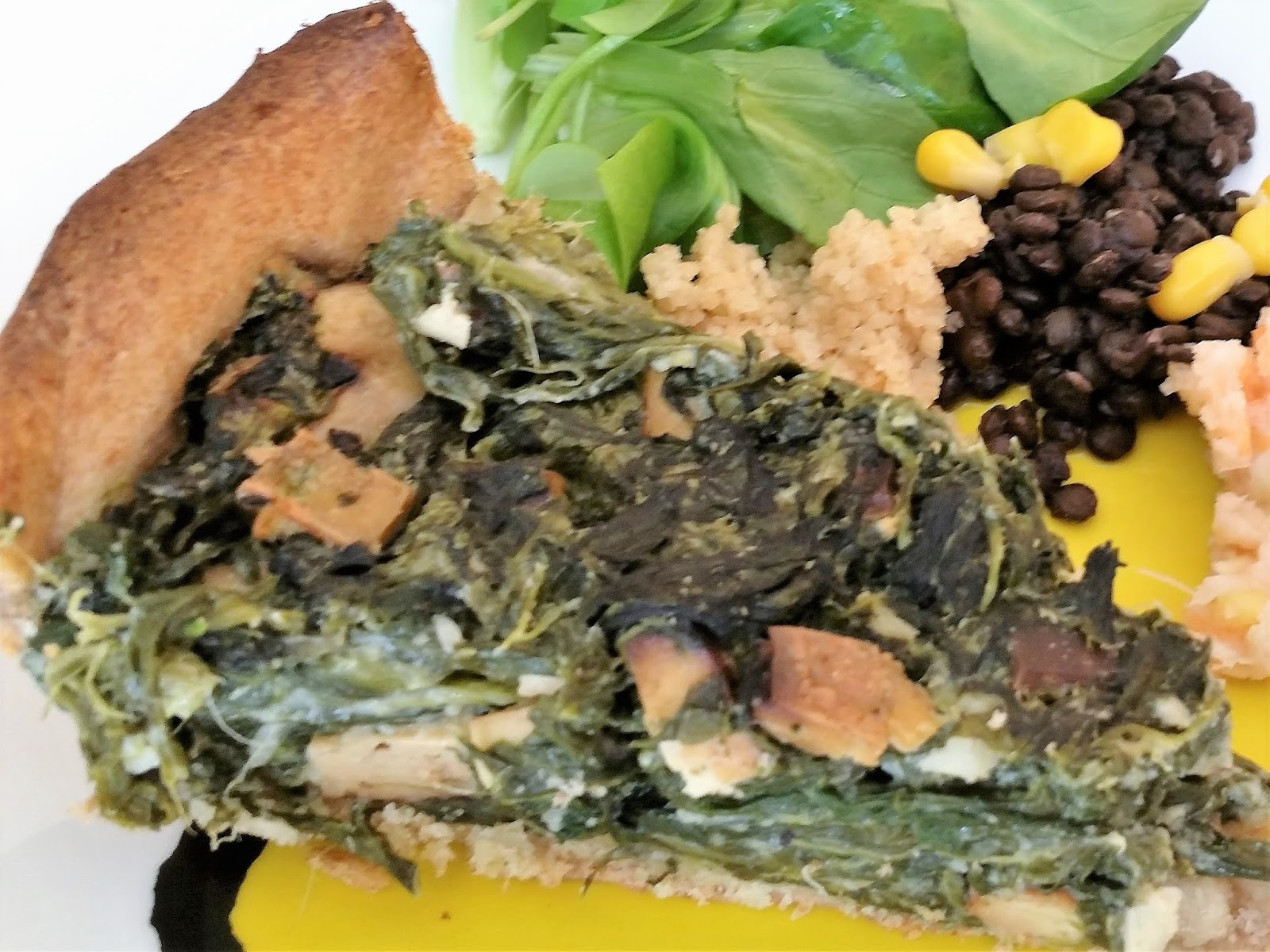 janine's vegane küche: spinat-wähe vegan