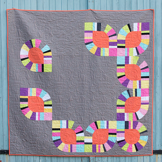 Modern Love Quilt Free Pattern designed by Jo Avery from My Bear Paw