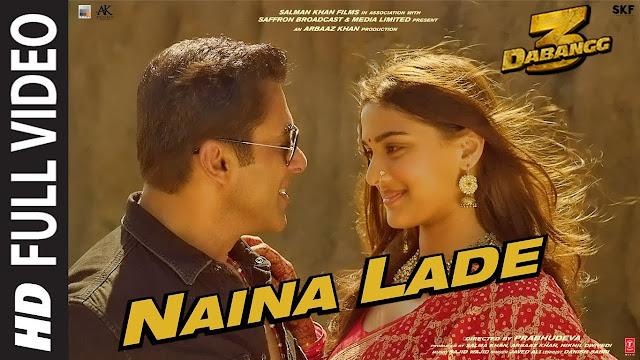 NAINA LADE LYRICS - Dabangg 3 | Javed Ali