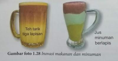 Inovasi objek, makanan dan minuman konsep ketumpatan