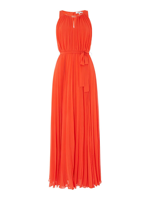 ISSA Pippa Pleat Neck Trim Maxi