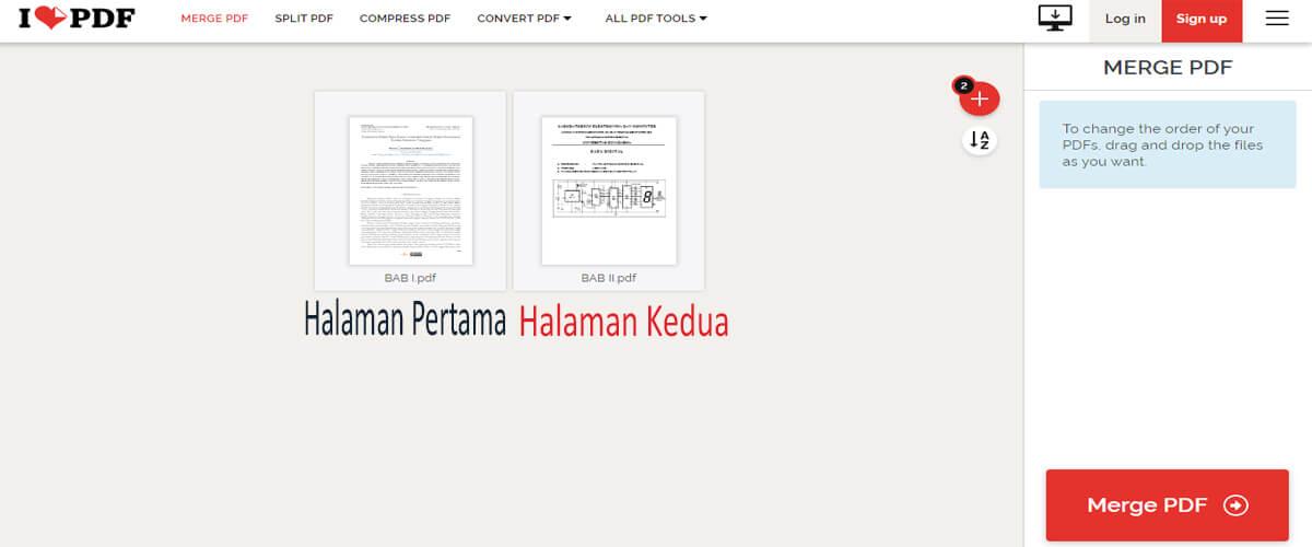 Menggabungkan Dua File PDF Menjadi Satu