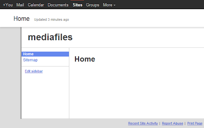Google Sites default site