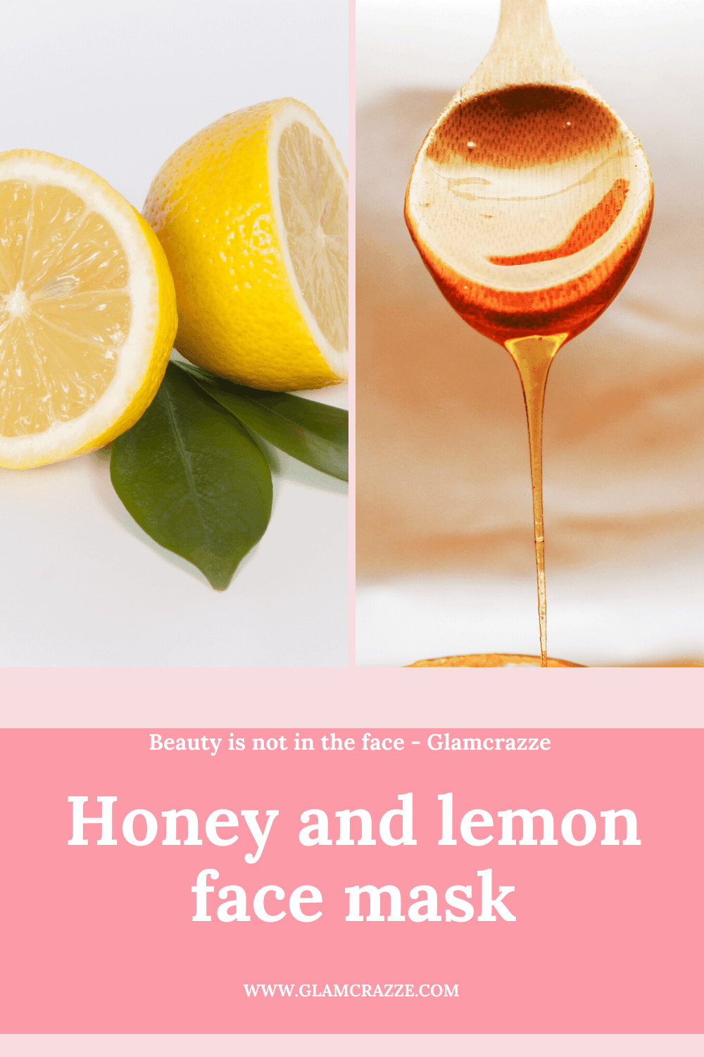 homemade face pack for instant glow and fairness using lemon and honey