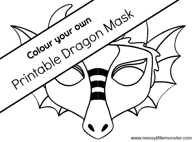 chinese dragon mask a