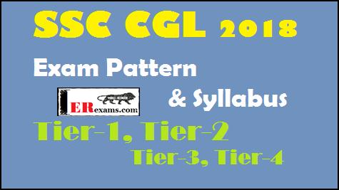 SSC CGL SYLLABUS, SSC CGL PATTERN 2018