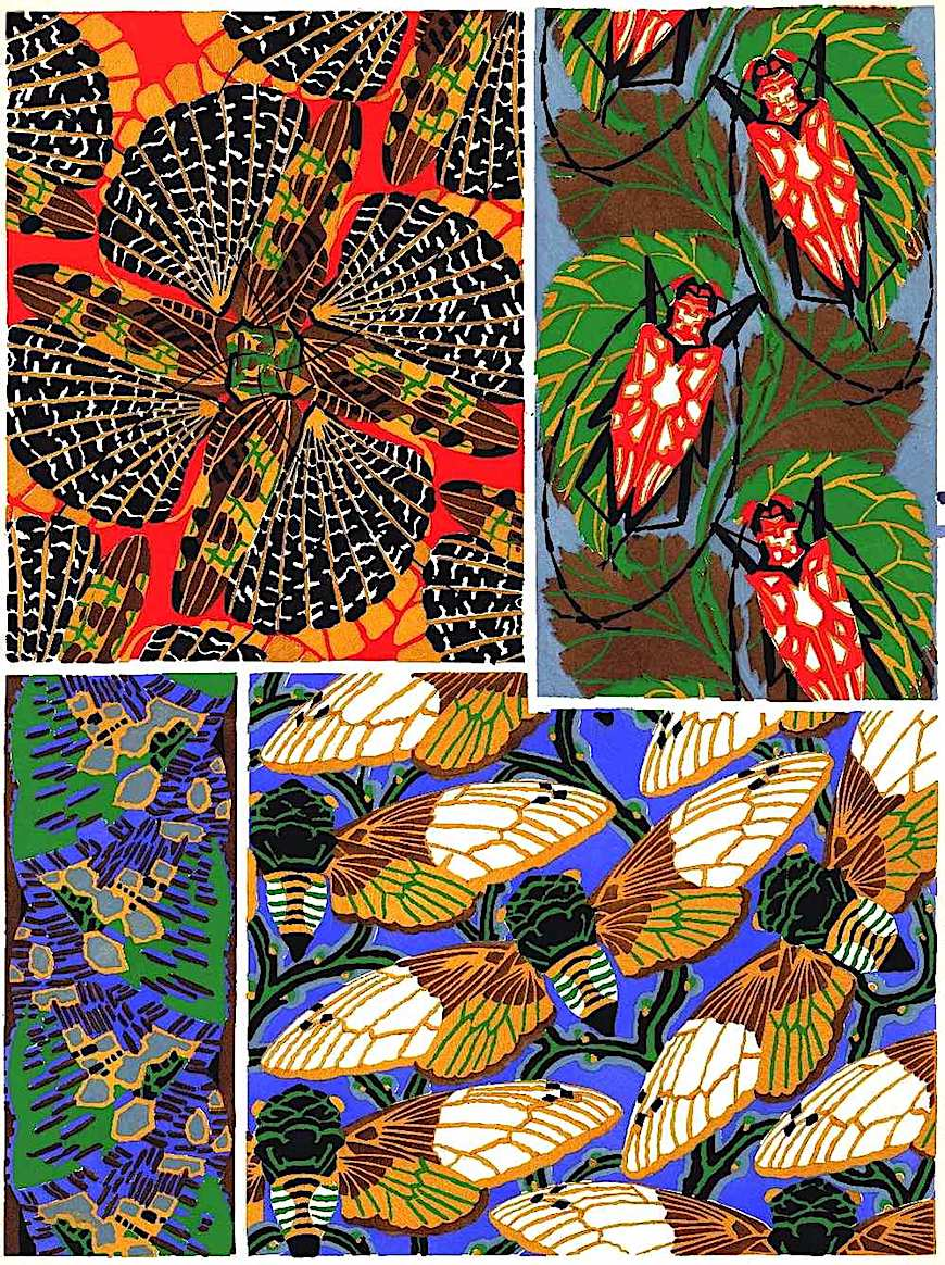 E.A. Séguy color ornament 1920s, butterfies and beetles