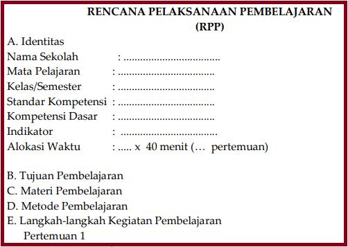 RPP Sebelum Mengajar, cara membuat RPP