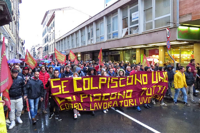 Demonstration across the center, Livorno