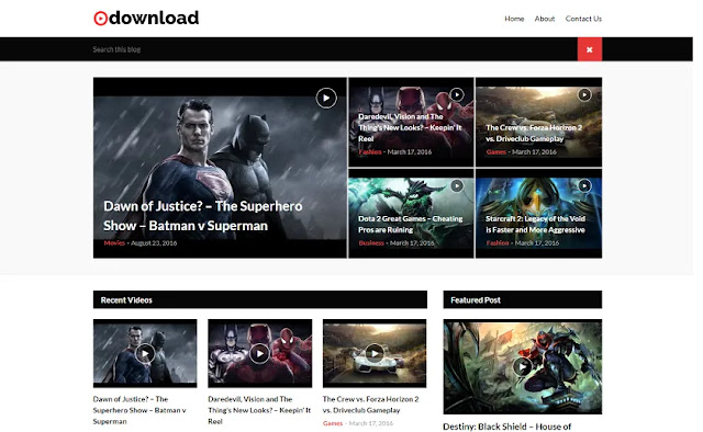 Video Download - A Responsive Blogger Template for Video Downloading Site