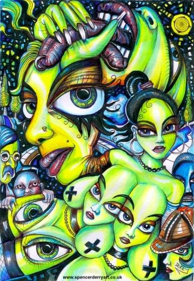 Spooky Look - Surreal art Illustration