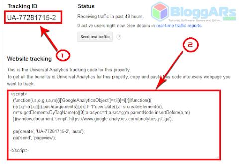 Kode Pelacakan Google Analytic