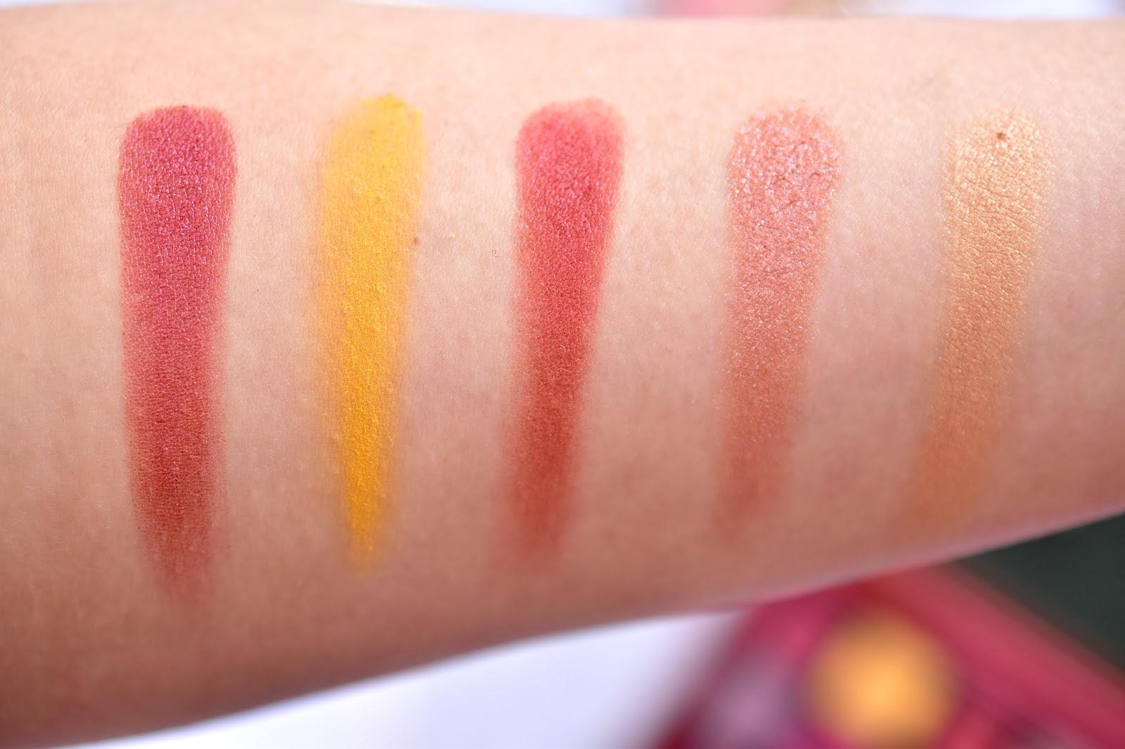 Natasha Denona Sunrise palette swatch