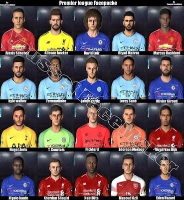 PES 2017 Premier League Facepack 2019
