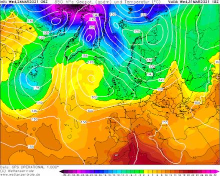 Που θα σημειωθεί παγετός τις επόμενες ημέρες και η εξέλιξη του καιρού την επόμενη εβδομάδα