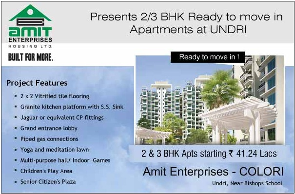 Pune Properties: Amit Colori - Ready to move in 2 and 3 BHK