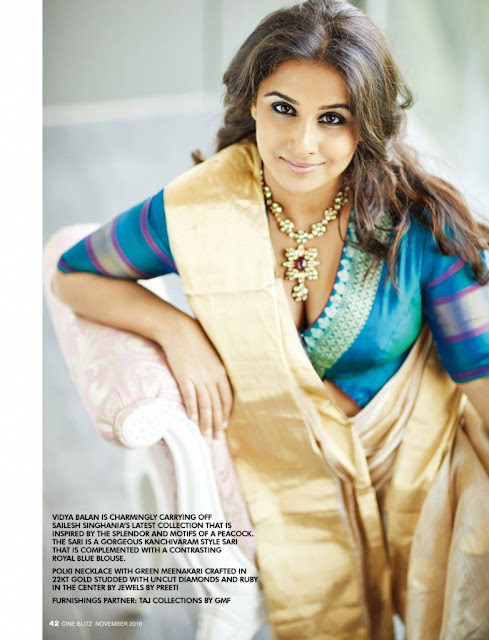 Vidya Balan Features on CineBlitz Magazine November 2016
