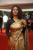 Aditi Myakal look super cute in saree at Mirchi Music Awards South 2017 ~  Exclusive Celebrities Galleries 021.JPG