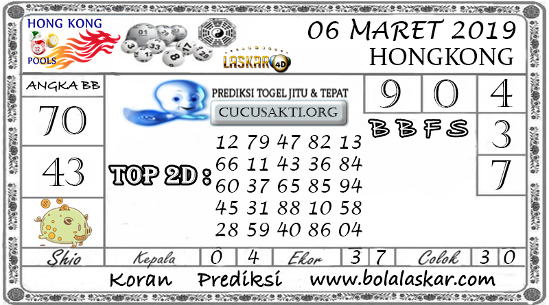 Prediksi Togel HONGKONG LASKAR4D 06 MARET 2019