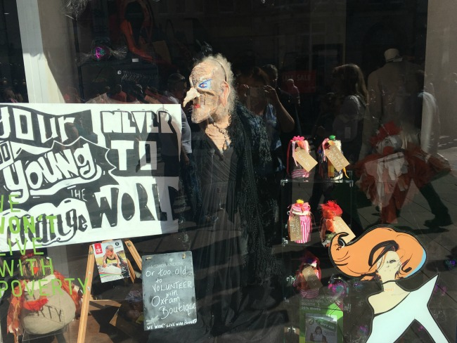 City-Of-The-Unexpected-Cardiff-Celebrates-Roald-Dahl-withch-in-Oxfam-window