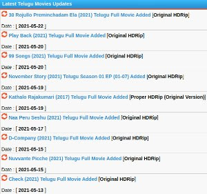 Latest Kotha Movies collection