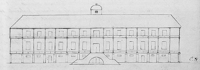 Bermuda's Royal Naval Hospital in 1818