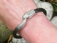 Men's snake bracelet made with goat leather by Anna Leas Finest
