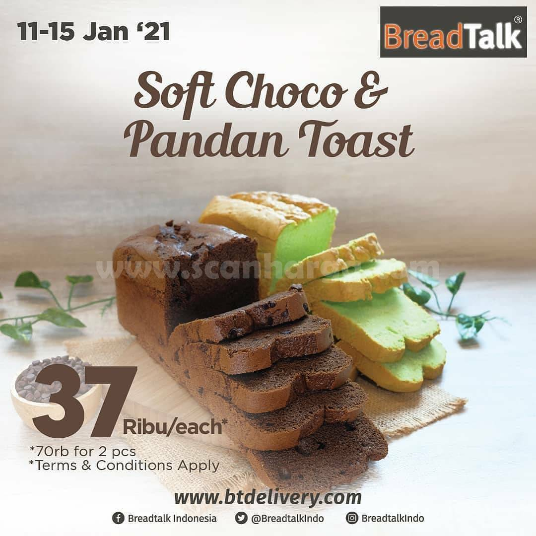 Breadtalk Promo Soft Choco & Pandan Toast Only Rp 37.000each