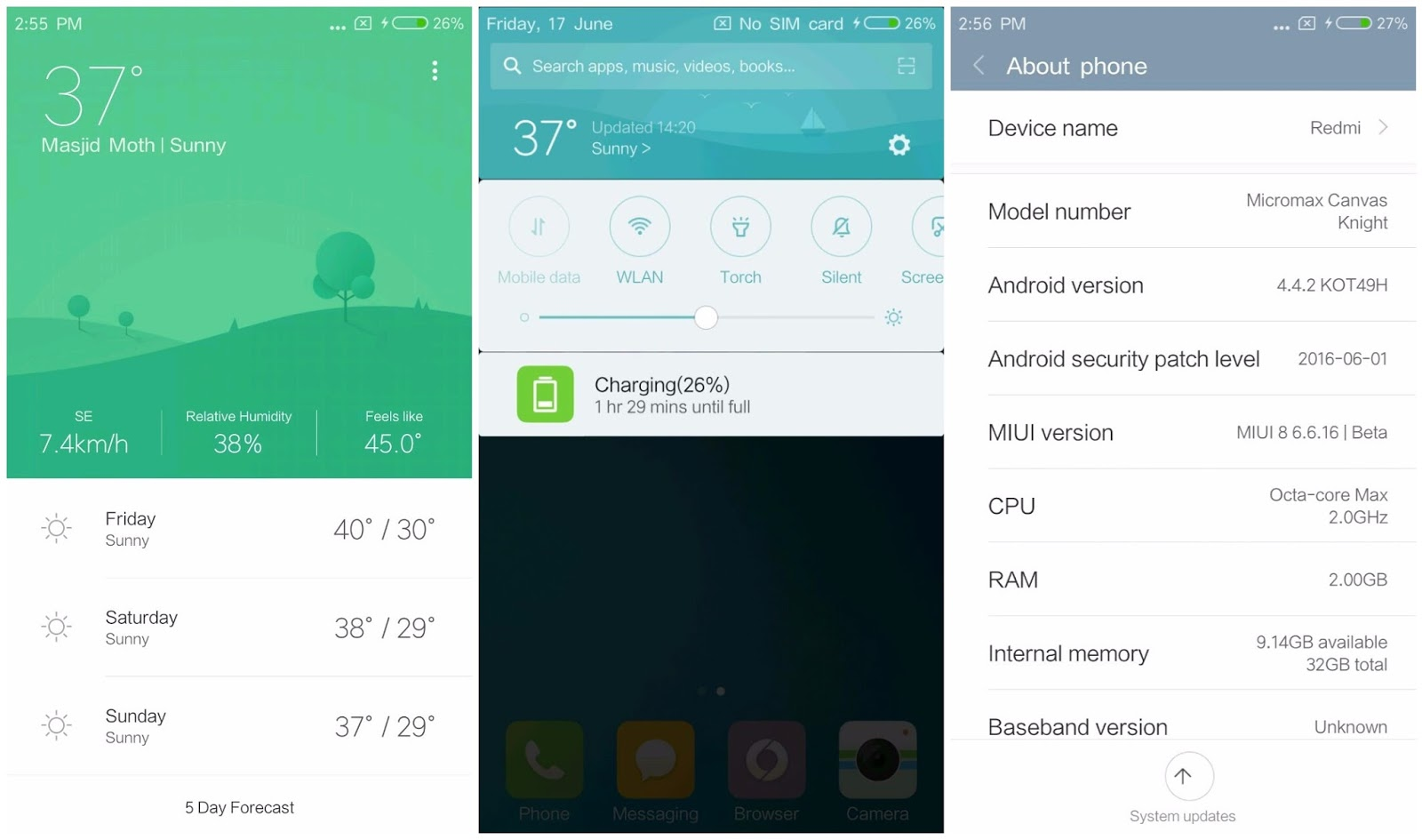 Enable Wallpaper Carousel On Miui 8 2: MIUI 8 Global Beta (6.10.20 V8) Canvas Knight V3 MT6592