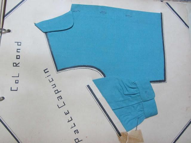 Exemple de couture de col rond