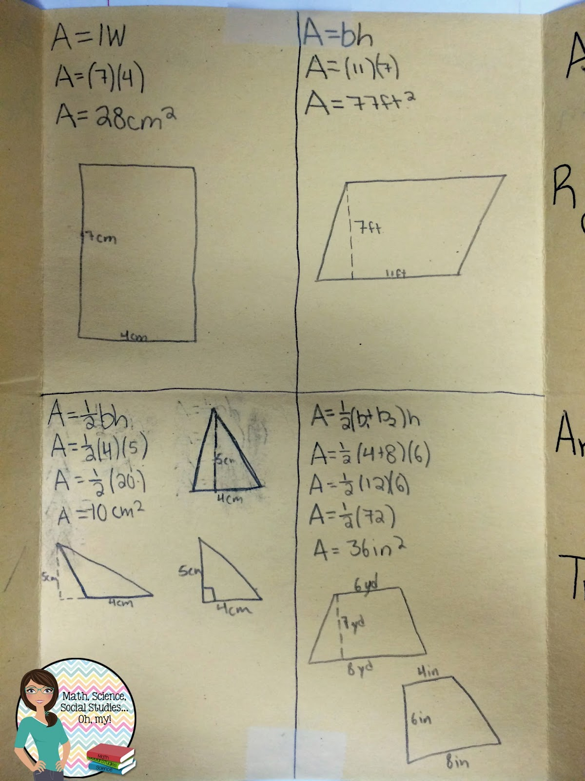 Math Science Social Stu S Oh My Foldable