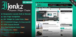 Ijonkz blogger template free download