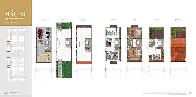 Thiết kế biệt thự shophouse shop villas Dự án Sunshine Helios Ciputra Hà Nội