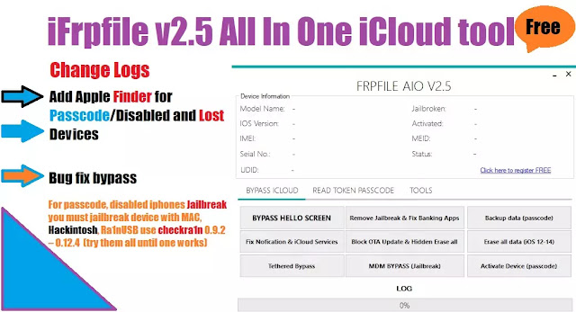 iFrpfile v2.5 iCloud Bypass tool