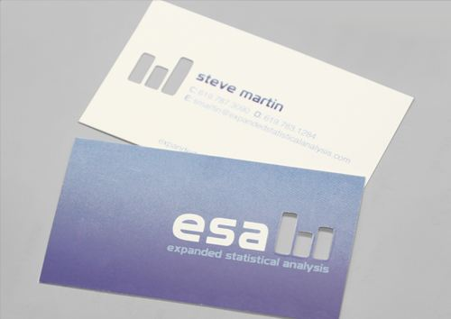 The Esa Silk Card Is A Professional Design That Clean Minimalist And Involves Subtle Cut Punch Out For Logo