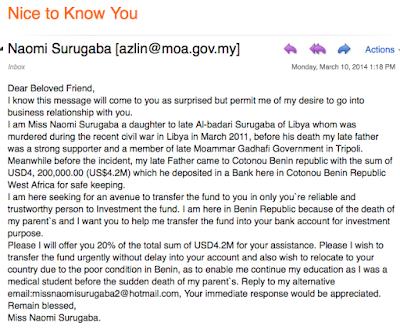 nigeria email scam