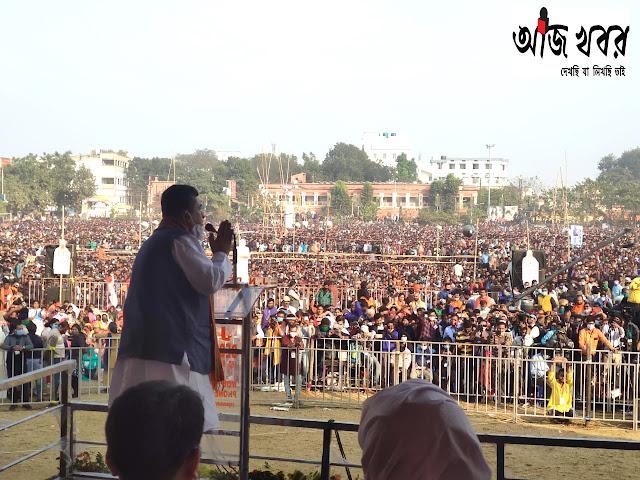 শুভেন্দুর নতুন স্লোগান 'তোলাবাজ ভাইপো হঠাও'