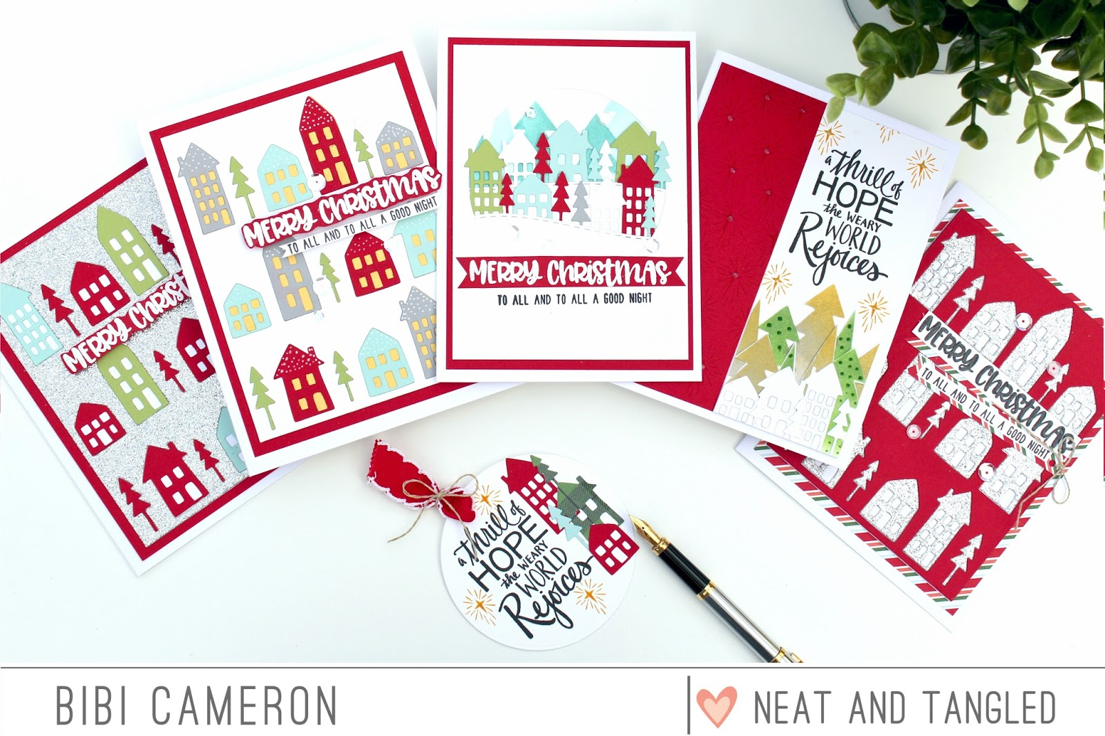 Easy and Quick Die Cut Christmas cards   Neat and Tangled November ...