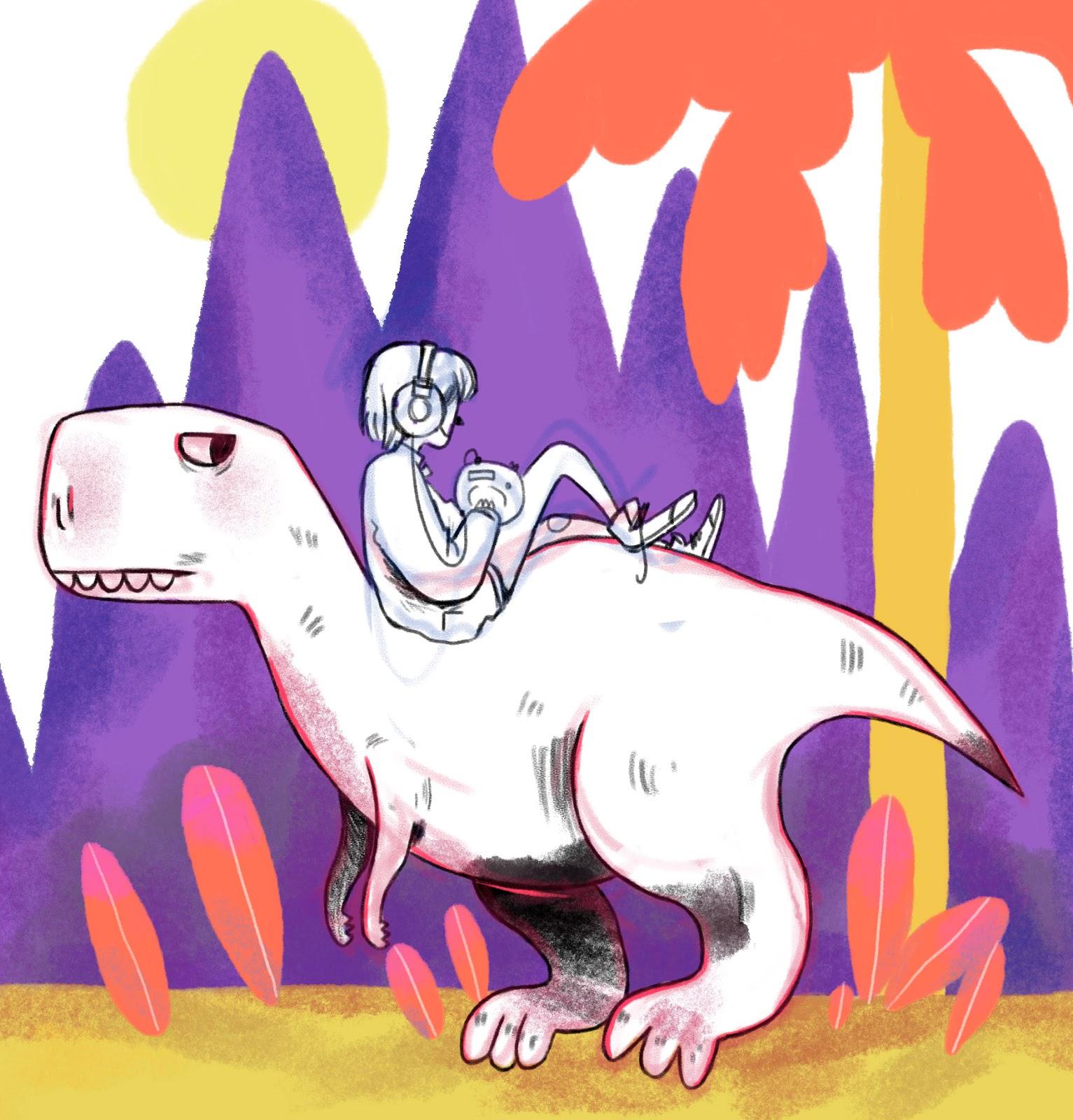 dibujo de tiranosaurio