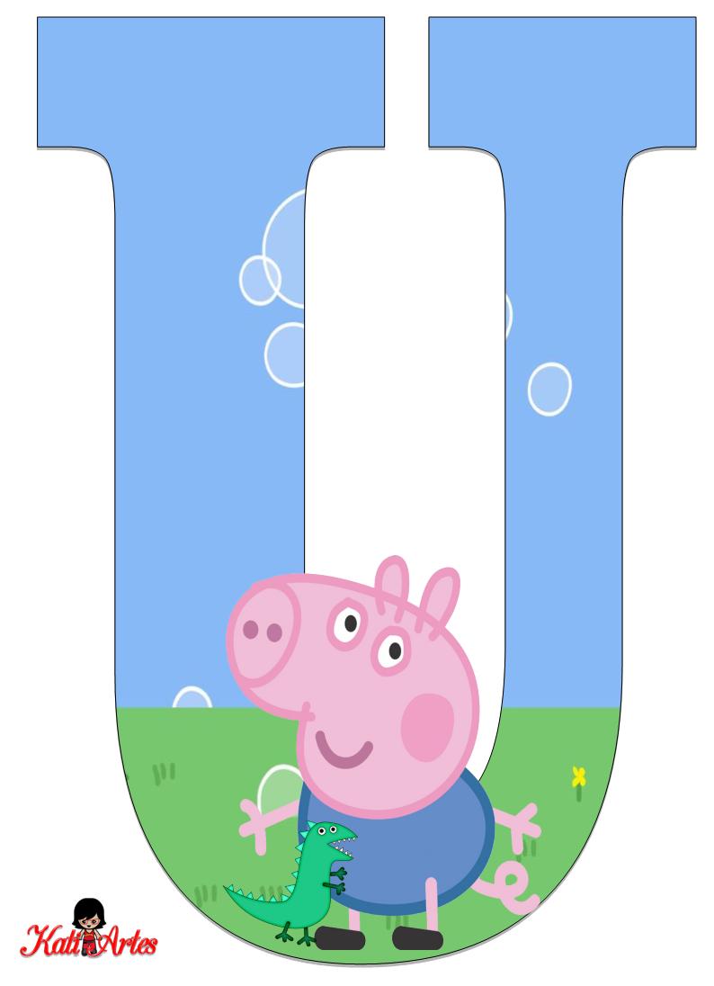 Alfabeto De George Pig Oh My Alfabetos