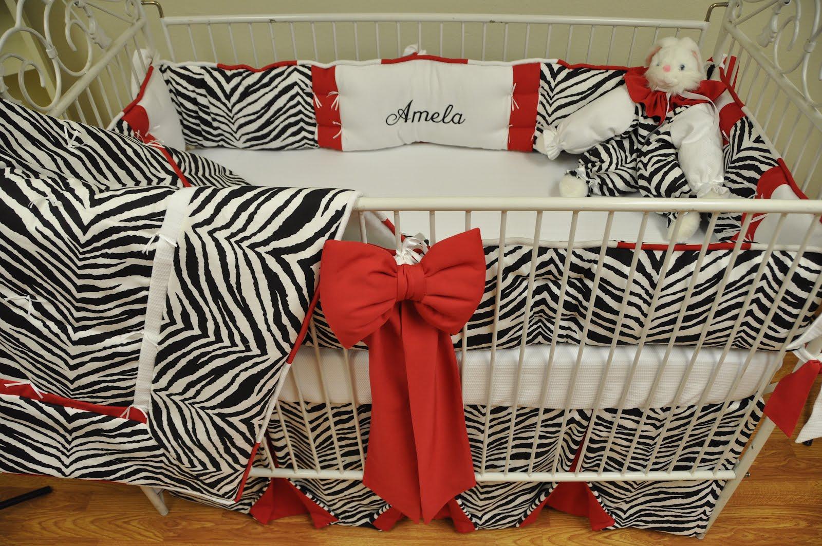 Designer Baby Bedding By Nava S Designs Wild Red Zebra