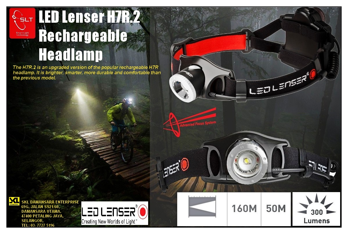 Christmas Promo!!LED Lenser High Performance H7R.2 Rechargeable Headlamp@ RM 445